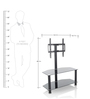 Barcelona LCD TV Stand in Black Colour by Royal Oak