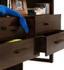 Barcelona Solid Wood Entertainment Unit in Provincial Teak Finish by TheArmchair