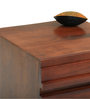 Bari Bedside Table in Mahogany Finish by The ArmChair