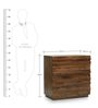Bari Small Chest Of Drawers in Walnut Finish by The ArmChair