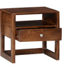 Connell Solid Wood Bed Side Table in Provincial Teak Finish by Woodsworth
