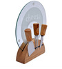 Barworld Cheese Knife Set With Cutting Board