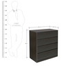 Basic Chest Of Four Drawers in Wenge Colour by HomeTown