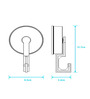 Bathla Silver ABS Clothes Hook