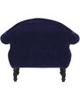 Bayley Single Seater Sofa in Navy Blue Color Finish by Amberville