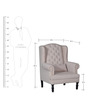 Bayley Wing Chair by Amberville