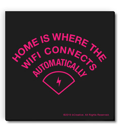 Bcreative Home Where Wifi Connects Automatically (Officially Licensed) Fridge Magnet