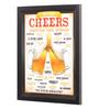 Bcreative Glass, Fibre & Paper 8 x 1 x 12 Inch Cheers Around The World Beer Officially Licensed Framed Poster
