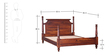 Bealey Queen Size Bed in Honey Oak Finish by Amberville