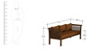 Belmond Teak Wood Sofa Set (3+1+1) in Mahogany Finish by CasaTeak