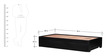 Freemont Single Bed with Storage in Espresso Walnut Finish by Woodsworth
