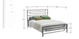 Benjamin King Size Bed in Grey Colour by Asian Arts