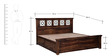 Barryl King Bed with storage in Provincial Teak Finish by Amberville