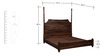 Bertoli King Size Bed in Provincial Teak Finish by Amberville