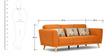 Beryl Fabric Three Seater Sofa by Hometown