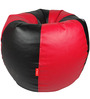 Bean Bag in Red & Black Colour (Filled with Beans) in XXXL Size by Orka