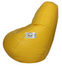 Bean Bag with Beans in Yellow Leatherette by TJAR