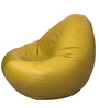 Bean Bag Without Beans in Yellow Leatherette by TJAR