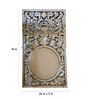 Beatrice Decorative Mirror in Silver by Amberville