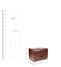Genuine Leather - Bed Side Table - Brown By Studio Ochre