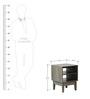 Shinjiko Bed Side Table in Sonoma Oak Finish by Mintwud