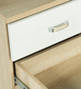Bedside Table in Natural & White Colour by Penache Furnishings