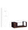 Benton Coffee Table with Glass in Provincial Teak Finish by Woodsworth