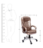 Bergere Executive High Back Chair in Copper Color By VJ Interior