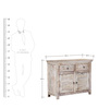 Berkeley Sideboard in White Wash Finish by Amberville