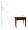 Bernake Compact Console Table in Provincial Teak Finish by Amberville