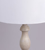 Bespoke Antique White Wooden Ash Table Lamp