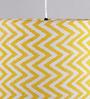 Bespoke Yellow 25W Ziggy Fabric Pendant Light