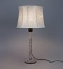 Beverly Studio Blue Poly Cotton Table Lamp