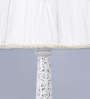 Bayley Table Lamp in White by Amberville