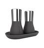 Bewater Aura Black Plastic 1400 ML Salt and Pepper Shaker