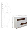 Bianco Chest of Drawers in Frosty White & Walnut Colour by Crystal Furnitech