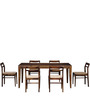 Bibiana Six Seater Dining Set in Provincial Teak Finish by Woodsworth