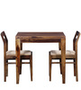 Bibiana Two Seater Dining Set in Provincial Teak Finish by Woodsworth