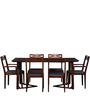 Binita Six Seater Dining Set in Honey Oak Finish by Woodsworth