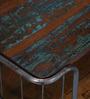 Bisha Coffee Table in Rustic Finish by Bohemiana