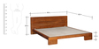 Blaine Queen Size Bed in Honey Oak Finish by Woodsworth