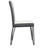 Black Glass Top Four Seater Dining Set with Metallic Chair by Parin