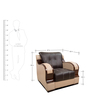 Blackberry One Seater Sofa in Black & Coffee Colour by Home City