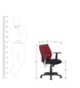 Blaze Middle Back Chair in Black & Red Colour by Nilkamal