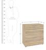 Hikari Chest of Three Drawers in Oak Finish by Mintwud