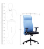 BlueBell  Eleganz High Back Office Chair - Black and Blue (Dual Tone)
