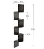 Bluewud Morpheus Wenge MDF Wall Shelf