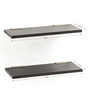 Bluewud Black MDF & Brass Stellar Series Wall Shelf Set