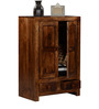 Ontario Small Solid Wood Wardrobe in Provincial Teak Finish by Woodsworth