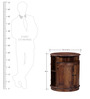 Alma Bar Cabinet in Provincial Teak Finish by Woodsworth